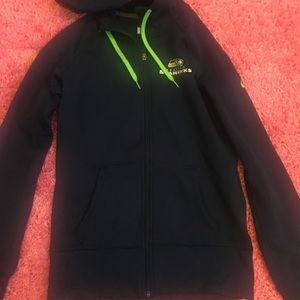 Hot Nike Jackets & Coats | Seattle Seahawks Nfl Zip Up Hoodie | Poshmark  free shipping